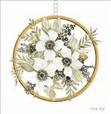 Geometric Circle Muted Floral