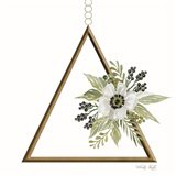 Geometric Triangle Muted Floral II