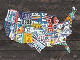 USA License Plate Map C
