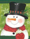 Snowman with Bulb