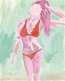 Red Ruffle Bikini