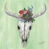 Floral Bull Skull