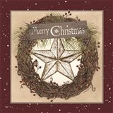 Christmas Barn Star Wreath