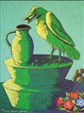 Topiary Crow with Jug