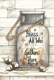 Glass Luminary Bless All Who Gather