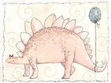 Miss Pink Stegosaurus and Blue Balloon