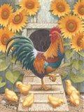 Sunflowers and Chicks