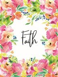 Faith Watercolor Flowers