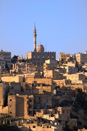 Aerial view of traditional houses in Amman, Jordan Poster by Keren Su / Danita Delimont for $57.50 CAD