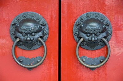 Pair of Door Knockers, Buddha Tooth Relic Temple, Singapore Poster by Cindy Miller Hopkins / Danita Delimont for $90.00 CAD