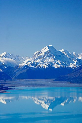 Aoraki, Mt Cook and Lake Pukaki, South Canterbury, South Island, New Zealand Poster by David Wall / Danita Delimont for $92.50 CAD