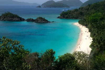 Trunk Bay Beach, St Johns, US Virgin Islands Poster by Bill Bachmann / Danita Delimont for $80.00 CAD