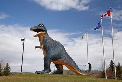 Albertosaurus Dinosaur, Drumheller, Alberta, Canada Poster by David Wall / Danita Delimont for $81.25 CAD