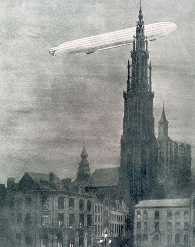 WORLD WAR I (1914-1918) First German Zeppelin Over Antwerp Poster by Prism / DanitaDelimont for $37.50 CAD