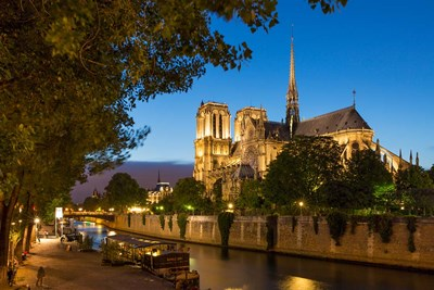 Twilight Along River Seine Below Cathedral Notre Dame, Paris, France Poster by Brian Jannsen / Danita Delimont for $42.50 CAD