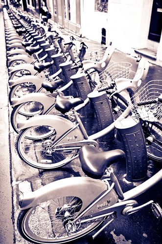 Velib Bicycles For Rent, Paris, France Poster by Russ Bishop / DanitaDelimont for $42.50 CAD