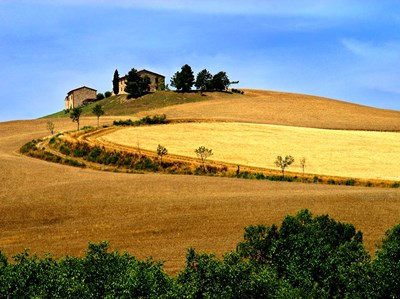 Italy, Tuscany, Farmhouse And Fields Poster by John Ford / DanitaDelimont for $45.00 CAD