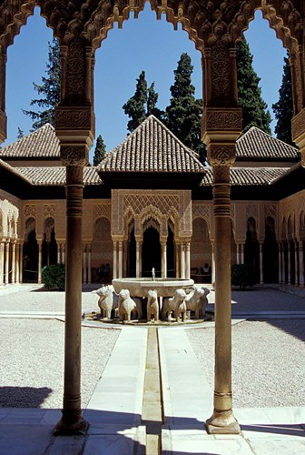Patio de los Leones in the Alhambra, Granada, Spain Poster by John & Lisa Merrill / Danita Delimont for $95.00 CAD