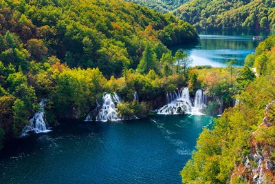 Lake Kozjak And Travertine Cascades On The Korana River, Croatia Poster by Russ Bishop / DanitaDelimont for $53.75 CAD