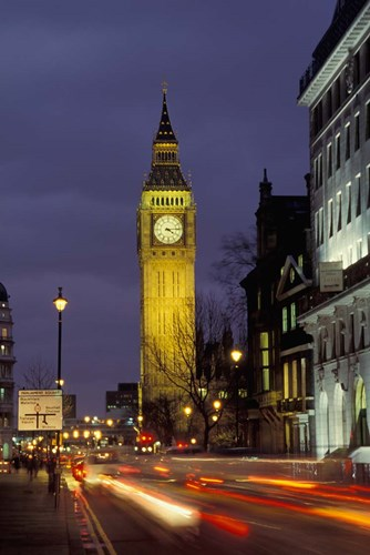 Big Ben at night with traffic, London, England Poster by Alan Klehr / Danita Delimont for $95.00 CAD