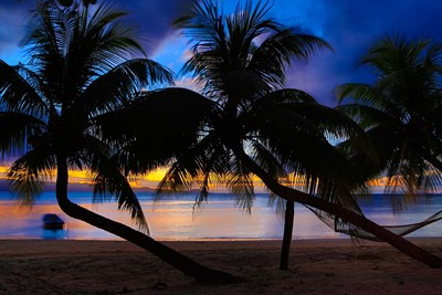 Sunset at Matangi Private Island Resort, Fiji Poster by Douglas Peebles / Danita Delimont for $45.00 CAD