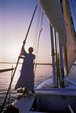 Falucca Sailing Down the Nile River, Egypt