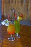 Tropical cocktails, Fregate Resort island, Seychelles