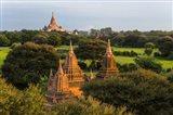 Ancient Temple and Pagoda at Sunrise, Bagan, Mandalay Region, Myanmar