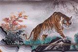 Tiger Painting on Outdoor Corridors, Zhongshan Park, Beijing, China