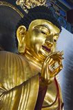 Buddhist Statue in Jinshan Temple, Zhenjiang, Jiangsu Province, China