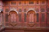Intricately carved walls of Mehrangarh Fort, Jodhpur, Rajasthan, India