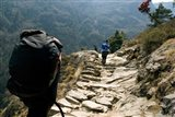Trekkers on the trail towards Namche Bazaar, Khumbu, Nepal