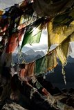 Prayer flags on Summit of Gokyo Ri, Everest region, Mt Everest, Nepal