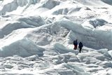 Climbers Return to Base Camp from Khumbu Icefall climbing, Mt Everest