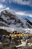 Tents Scattered along Khumbu Glacier,  Mt Everest, Nepal