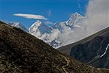 The Everest Base Camp Trail snakes along the Khumbu Valley, Nepal