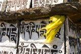 Prayer flag and Mani Stones, Buddhist Mantras, Khumbu, Nepal