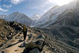 A trekker on the Everest Base Camp Trail, Nepal