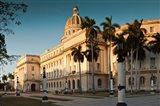 Cuba, Havana, Capitol Building, sunset