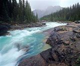 Mistaya River in Banff National Park in Alberta, Canada