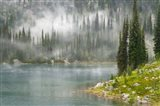 Fog and Rain on Lake Eva, Revelstoke National Park, British Columbia, Canada