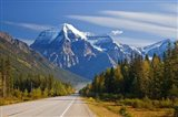 Highway through Mount Robson Provincial Park, British Columbia, Canada