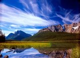 Waterfowl Lake and Rugged Rocky Mountains, Banff National Park, Alberta, Canada