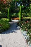 Trail Through the Butchard Gardens, Victoria, British Columbia, Canada