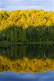 Canada, Quebec, Lake Long Pond Sunset Reflection
