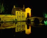 The Beguinage at Night, Bruges, Belgium