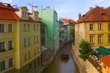 Historical Buildings and Canal, Czech Republic