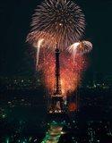 Fireworks, Eiffel Tower, Paris, France