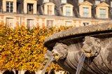 Lion Heads Fountain in Paris, France