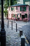 Historic La Maison Rose Cafe in Montmartre